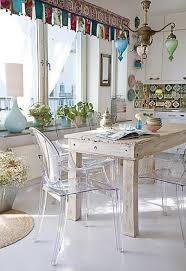 dining room appealing shabby chic dining room with transparent