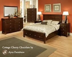 Cherry Bedroom Furniture Set Bedroom Poster Bed Set 16 Sfdark