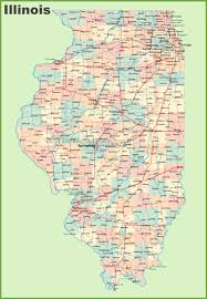 map of illinois with cities and towns