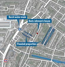 boris johnson u0027s north london home under threat from flash floods