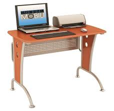 Mobile Computer Desk Amazon Com Modern Computer Desk With Mobile Cpu Caddy Color