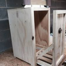 Kitchen Cabinet Trash Can Pull Out How To Build A Custom Tilt Out Trash Cabinet D I M Do It Myself
