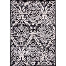 well woven miami ginger damask modern trellis black 5 ft x 7 ft