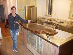 kitchen island counter height kitchen alder wood orange zest shaker door counter height kitchen