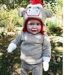 disguise too cute to spook infant sock monkey costume 12 18