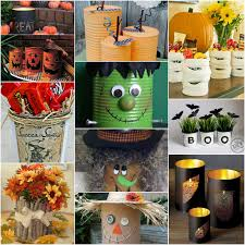 Dltk Halloween Crafts by Halloween And Fall Tin Can Upcycles For Kids And Adults Redo It
