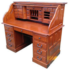 Roll Top Antique Desk Marlin Deluxe Roll Top Desk Top Traditional Desks And Hutches
