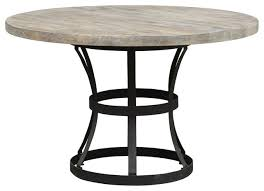 Industrial Pedestal Table Tribeca Pedestal Dining Table Industrial Dining Tables By