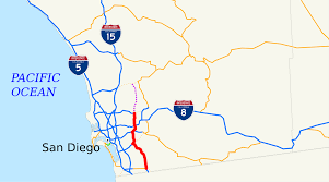 San Diego Public Transportation Map by California State Route 125 Wikipedia