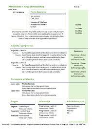 scarica curriculum vitae europeo da compilare gratis pdf curriculum vitae modello 04 modello curriculum