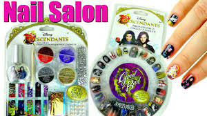 disney descendants nail salon with press on nails and art set
