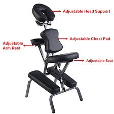 giantex portable pu leather pad travel massage tattoo spa chair w