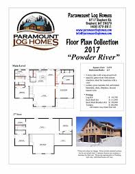 Ideal Homes Floor Plans Powder River Paramount Log Homes