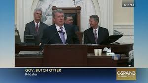 idaho governor butch otter delivers state state address jan 9