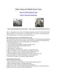 solar turbine electric generator gas turbine