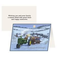 deere wrapping paper deere hayride greeting card 12 pack ngder77106