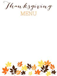thanksgiving dinner menu templates happy thanksgiving