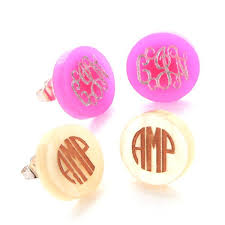 Monogrammed Earrings 34 Best Jewelry Images On Pinterest Monograms Simply Southern