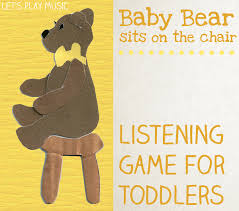 Bear On The Chair Baby Bear Sits On The Chair Rhythm U0026 Listening Game