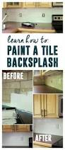 How To Do Tile Backsplash by How To Paint A Tile Backsplash How To Paint Tile And Paint