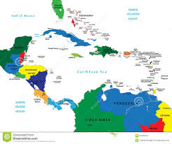 Caribbean Ocean Map by Central America And The Caribbean Map Stock Photos Image 24902503