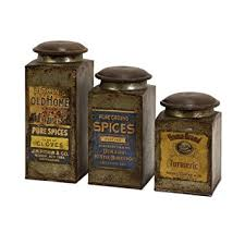 primitive kitchen canister sets imax 73046 3 addie metal canister set 3 kitchen