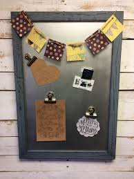rustic magnet board message center magnetic board office