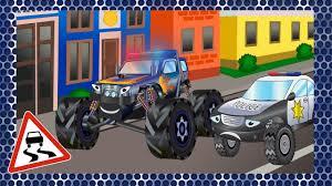 monster truck race cartoons for kids monster truck race with sport cars