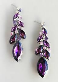 purple earrings swarovski crystallized teardrop earrings vitrail light