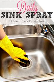 Daily Sink Spray Deodorize Disinfect Shine Housewife HowTos - Kitchen sink deodorizer
