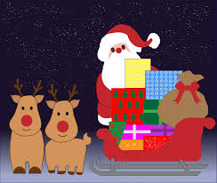 christmas santa with sleigh free stock photo public domain pictures