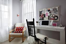 Desk Arm Chair Design Ideas Decorating Modern Eclectic Feminine Home Office Decorating