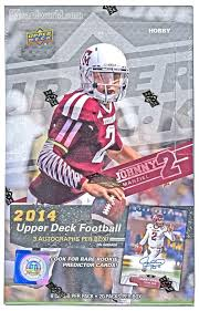 2014 upper deck football hobby box da card world