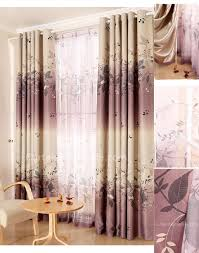best energy efficient curtains of leaf style for living room choice