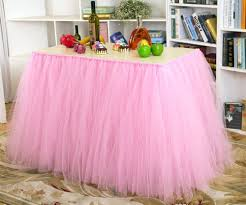 Pleated Table Covers Amazon Com Table Skirt Tutu Tulle 1 Yard Centerpiece Tableware
