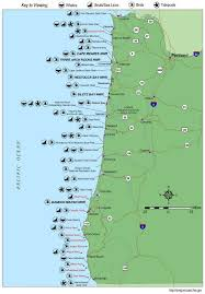 map of the oregon coast oregon coast wildlife map whale locations tons of info