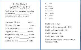 building molecules chemistry activity homeschool den