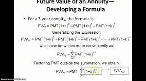 Ordinary Annuity Table Future Value Of An Ordinary Annuity Youtube
