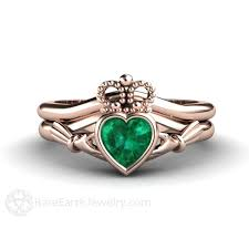 claddagh engagement ring emerald claddagh ring engagement promise ring may birthstone