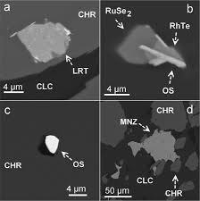 compounds of ru u2013se u2013s alloys of os u2013ir framboidal ru nanophases