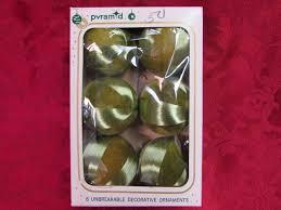 vintage pyramid satin sheen unbreakable balls ornaments