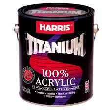 harris titanium 1 gal semi gloss latex white interior exterior