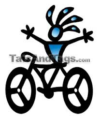 bicycle temporary tattoos bike and runner designs by custom tags
