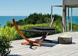 lujo living free standing double hammock with stand gadget flow