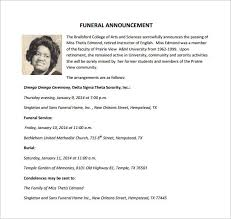 funeral notice template 12 free word excel pdf psd format