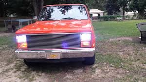 1986 chevy c10 tail lights chevy c10 with angel eye s headlights youtube