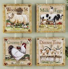 animal art country kitchen art kitchen wall decoretsy nursery art