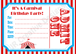carnival birthday party ideas carnival birthday party invitations best party ideas
