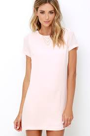 shift and shout blush pink shift dress trendy