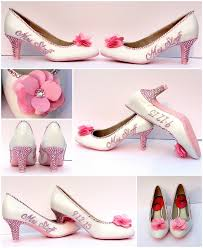 wedding shoes pink light pink bridal shoes s name wedding date